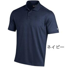 アンダーアーマー UNDER ARMOUR パフォーマンス ポロシャツ ゴルフ メンズ 男性 半袖 ヒートギア トレーニング スポーツウェア おしゃれ 大きいサイズ コーディネート 吸水速乾 トップス ゴルフウェア ネイビー