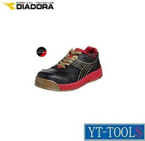 DIADORA PEACOCK(ピーコック)【型式 PC-22】《保護具/安全靴・作業靴/プロテクティブスニーカー/工場/現場/DIY/ブラック×レッド/ドンケル》※メーカー取寄せ品