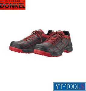 "DONKEL(ドンケル) ダイナスティ""DYPRシリーズ""【型式 DYPR-23(BLK+RED)】(サイズ:22.5〜28・29・30cm)《環境安全用品/安全靴・作業靴/プロテクティブスニーカー/現場/プロ/職人/倉庫・工場/DIY》※メー"