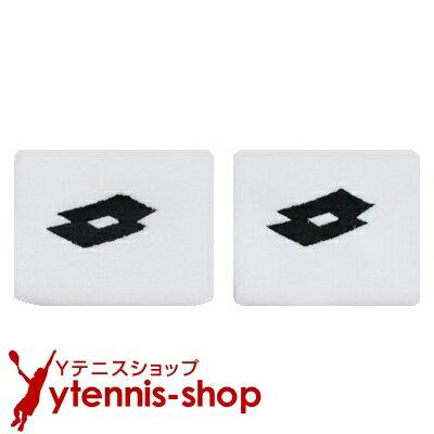 ロット(Lotto) エース リストバンド ホワイト/ネイビー【あす楽】