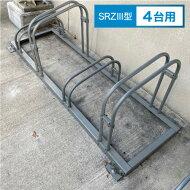 前輪掛け式サイクルラックSRZ型4台用[1set]自転車ラックサイクルラック自転車置き場駐輪場駐輪スペーススタンド屋外用省スペース収納転倒防止強風安定