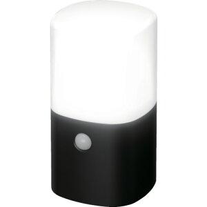 TRIRIS 乾電池式LEDガーデンセンサーライト 角型 ブラック