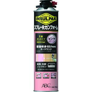 TRABC 簡易型発泡ウレタンフォーム 1液ガンタイプ インサルパック スプレーRガンフォーム 780ml フォーム色:ピンク