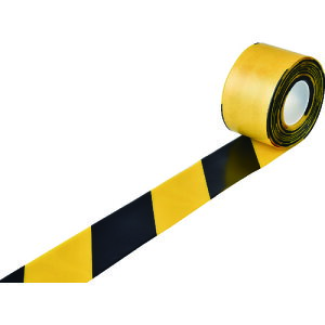 《6/20限定!5と0のつく日 最大P7倍!》TR緑十字 高耐久ラインテープ 黄/黒 100mm幅×10m 両端テーパー構造