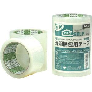 《7/19〜26 お買物マラソン 最大P28倍》TRニトムズ 透明梱包用テープ PK3500 (3巻入)