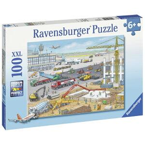 空港建設中(100ピース)パズル おもちゃ ドイツ 上質 ジグソーパズル 飛行機 空港 5歳 6歳 7歳 プレゼント ギフト ラベンスバーガー