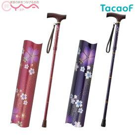 【幸和製作所(TacaoF)】テイコブ折りたたみ式伸縮ステッキ EOP03 [折りたたみ杖]