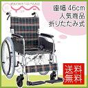 車椅子 車いす 車イス マキテック (マキライフテック) ワイドタイプ KS50-4643GC グリーンチェック 介護用品 送料無料