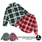 SHISKY長袖チェックシャツグリーンレッドブラックネイビー男の子女の子プリントYシャツ子供服キッズジュニア110cm120cm130cm140cm150cm160cm韓国ファッションシャツ子供服yuai