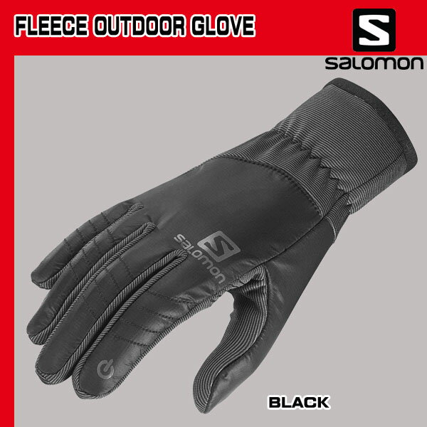 サロモン (SALOMON) FLEECE OUTDOOR GLOVE (BLACK)【サロモン】【WINTERBOOTS】(sal15dcn) 【sldcn】[SP03]