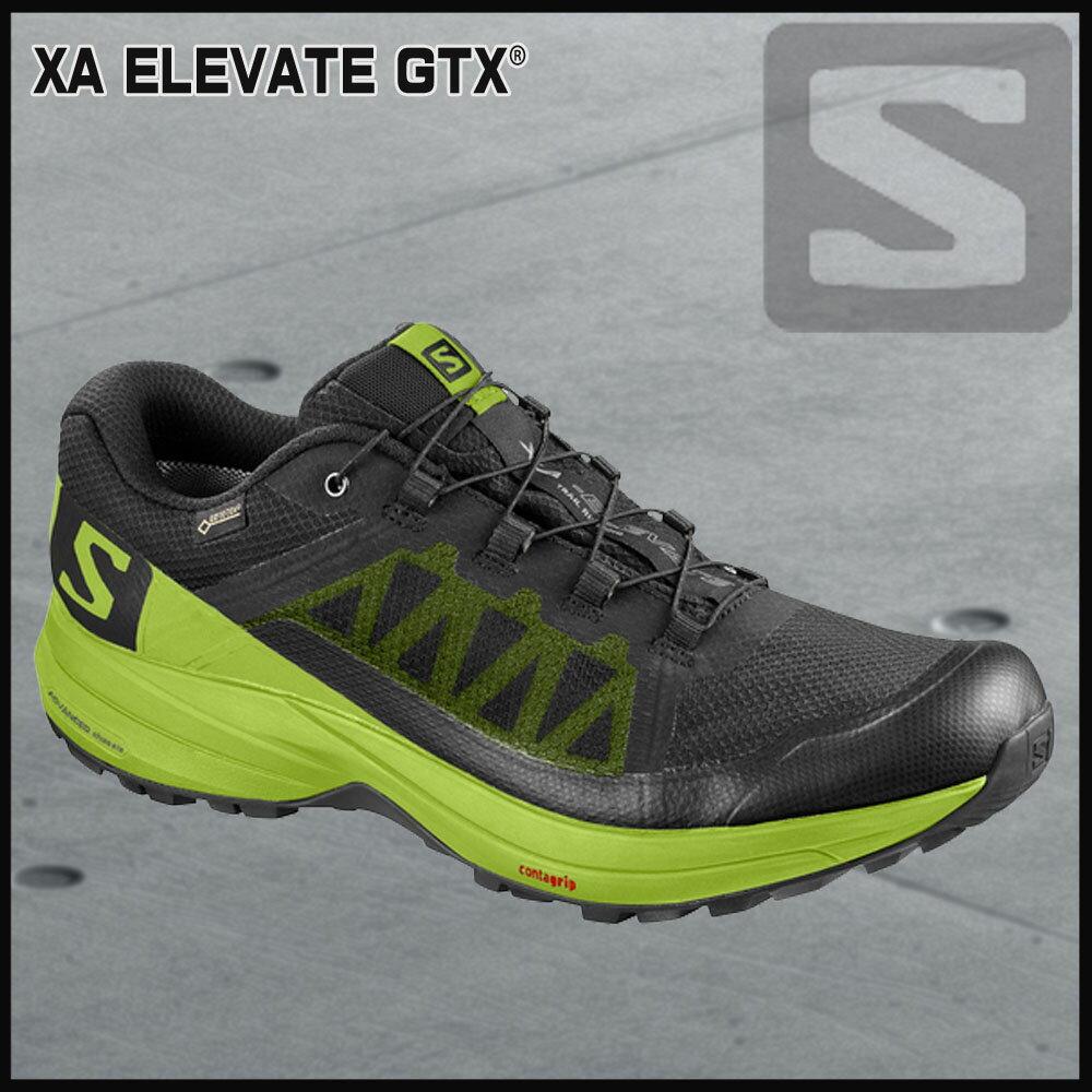 サロモン SalomonXA ELEVATE GTXBLACK/LIME GREEN/BLACK//
