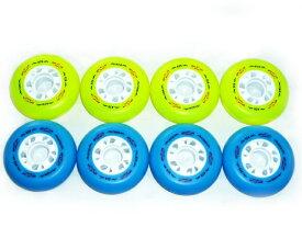 【メール便】硬度92Aインラインスケート用 タイヤ ウィール トリック スラローム フリースケートに!72mm 76mm 80mm