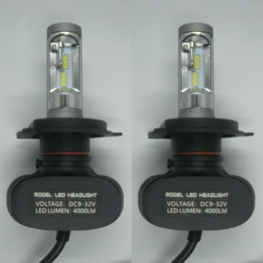 SUZUKI スイフト H19.5〜H22.8 ZC11・71系 ファンレス コントローラー一体型 LEDヘッドライト H4 Hi/Lo 6500K 4000LM 高輝度 車検適合 一年保証!2灯