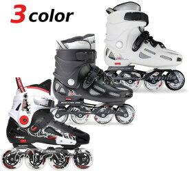 インラインスケート スラローム フリースケート対応 子供から大人まで ハードブーツ ブラック ホワイト ラベダ クーガー LABEDA COUGAR トリック