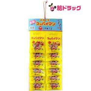 上間菓子店 スッパイマン甘梅1番12個 タネアリ (1シート)