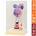 羽子板 初正月 舞桜 れいかんざし 紫 アクリルケース 高さ34cm 手書き 名入れ 木札 無料特典付き 送料無料 かわいい …