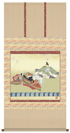 お雛様掛軸(掛け軸) 伊藤渓山作 歌仙雛 【尺八横】 d4109-24
