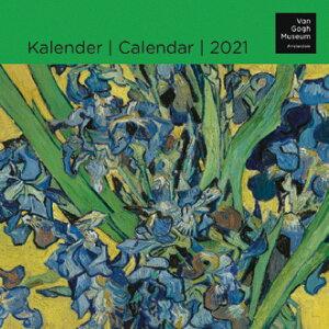 2021年【スモールカレンダー】「VAN GOGH/ゴッホ」壁掛けタイプ 作家 画家 印象派 花 ひまわり アート スケジュール 月曜始まり 英語 オランダ語 輸入雑貨(KA21370)