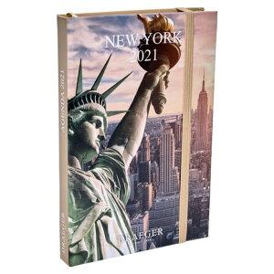 ドレジャー 2021年【ポケットアジェンダダイアリー】NEW YORK(スケジュール帳)ニューヨーク/アメリカ/風景/イラスト/写真/月曜始まり/日本語/英語/フランス製/中国印刷/輸入雑貨(21PA-006)[FS