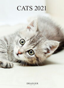 ドレジャー 2021年【ポスターカレンダー】CATS(壁掛けタイプ)猫/動物/かわいい/イラスト/写真/スケジュール/月曜始まり/日本語/英語/フランス製/中国印刷/輸入雑貨(21PC-001)[FSC認証]