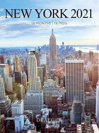 [SS 50%OFF] ドレジャー 2021年【スモールカレンダー】NEW YORK(壁掛けタイプ)ニューヨーク/アメリカ/風景/イラスト/写真/スケジュール/月曜始まり/日本語/英語/フランス製/中国印刷/輸入雑貨(21SC-008)[FSC認証]