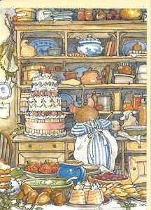 グリーティングカード【多目的】ブランベリーヘッジ「ウェディングケーキ」【封筒付き/アイボリー】【封筒サイズ/180×125mm】絵本 動物 メッセージカード 封筒付き 輸入雑貨(GC501)