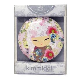 kimmidoll(キミドール)【コンパクトミラー】AINA(アイナ)(KF1084)おしゃれ かわいいデザインの折り畳み式両面鏡 さりげないお化粧直しに役立つ拡大鏡付き 母の日ギフトなどの贈り物に オーストラリアの輸入雑貨・日用品