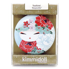 kimmidoll(キミドール)【コンパクトミラー】YOSHIMI(ヨシミ)(KF1117)おしゃれ かわいいデザインの折り畳み式両面鏡 さりげないお化粧直しに役立つ拡大鏡付き 母の日ギフトなどの贈り物に オーストラリアの輸入雑貨・日用品