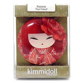 kimmidoll(キミドール)【コンパクトミラー】KAZUNA(カズナ)(KF1120)おしゃれ かわいいデザインの折り畳み式両面鏡 さりげないお化粧直しに役立つ拡大鏡付き 母の日ギフトなどの贈り物に オーストラリアの輸入雑貨・日用品