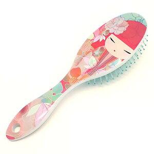kimmidoll(キミドール)【ヘアブラシ】TOMOMI(トモミ)(KF1142)おしゃれ ヘアーブラシ 裏面のデザインがかわいい櫛・コーム 頭皮にも優しいやわらかブラシ 寝起きや風呂上がりの髪のケアに 母