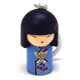 kimmidoll(キミドール)【キーホルダー】MINAKO(ミナコ)(TGKK062)こけし人形/フィギュア/かわいい/おしゃれ/輸入雑貨/オーストラリア生まれ