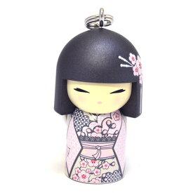 kimmidoll(キミドール)【キーホルダー】YUMIKA(ユミカ)(TGKK128)こけし人形/フィギュア/かわいい/おしゃれ/輸入雑貨/オーストラリア生まれ
