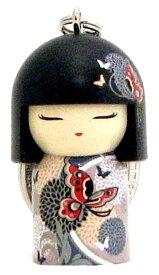 kimmidoll(キミドール)【キーホルダー】AYANA(アヤナ)(TGKK133)こけし人形/フィギュア/かわいい/おしゃれ/輸入雑貨/オーストラリア生まれ