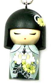 kimmidoll(キミドール)【キーホルダー】TSUKI(ツキ)(TGKK140)こけし人形/フィギュア/かわいい/おしゃれ/輸入雑貨/オーストラリア生まれ