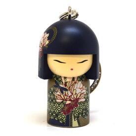 kimmidoll(キミドール)【キーホルダー】MISAYO(ミサヨ)(TGKK141)こけし人形/フィギュア/かわいい/おしゃれ/輸入雑貨/オーストラリア生まれ