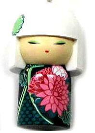 kimmidoll(キミドール)【キーホルダー】HANAE(ハナエ)(TGKK142)こけし人形/フィギュア/かわいい/おしゃれ/輸入雑貨/オーストラリア生まれ