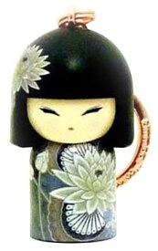 kimmidoll(キミドール)【キーホルダー】MOMO(モモ)(TGKK175)こけし人形/フィギュア/かわいい/おしゃれ/輸入雑貨/オーストラリア生まれ