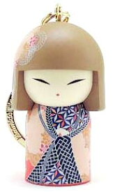kimmidoll(キミドール)【キーホルダー】KAONA(カオナ)(TGKK202)こけし人形/フィギュア/かわいい/おしゃれ/輸入雑貨/オーストラリア生まれ