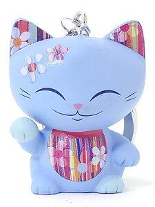 キーホルダー 招き猫 MANICAT(マニキャット) (MLCK045)キーリング付き/幸運/金運/縁起物/かわいい/おしゃれ/ドール/フィギュア/置物/インテリア/ギフト/プレゼント/輸入雑貨
