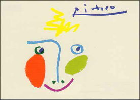 ポストカード 【アート】 ピカソ「ドローイング(愉快)」【148×105mm】(VD8258)