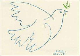 ポストカード 【アート】 ピカソ「青い鳩」【148×105mm】(VD8615)