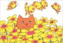 ポストカード 【イラスト】絵本/ディッキー・ディックシリーズ「お花畑のディッキー」【150×105mm】(BK4550)[FSC認証…