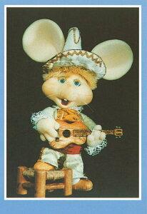 ポストカード 【イラスト/写真】 1960年代米国の音楽番組のキャラクター「トッポジージョ」【148×103mm】(TG114)キャラクター/米国/イタリア/音楽番組/絵はがき/ねずみ/ネズミ/鼠/輸入雑貨