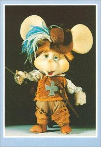 ポストカード 【イラスト/写真】 1960年代米国の音楽番組のキャラクター「トッポジージョ」【148×103mm】(TG116)キャラクター/米国/イタリア/音楽番組/絵はがき/ねずみ/ネズミ/鼠/輸入雑貨