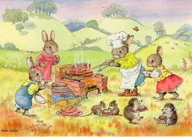 ポストカード 【イラスト】 絵本/ジーン・ギルダー「夏のバーベキュー」(MD2224)
