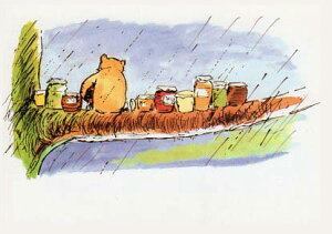 ポストカード 【イラスト】 絵本/くまのプーさん「雨の日」(PPC114)