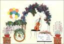 ポストカード 【イラスト】山田和明「ソネットが聴こえる庭園」(KY068)