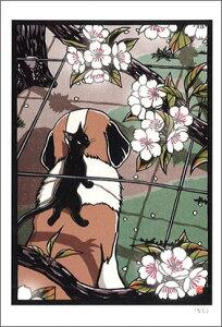 ポストカード 【イラスト】高木亮/切り絵の世界「なし」【148×100mm】(RT-131)