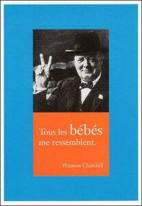 ポストカード 【モノクロ写真】「ウィンストン・チャーチル」(政治家)「すべての赤ちゃんが私のように見える」
