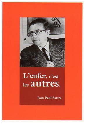 ポストカード 【モノクロ写真】「ジャン=ポール・サルトル」(哲学者)「地獄は人のようである」